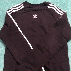 Black Adidas Crewneck